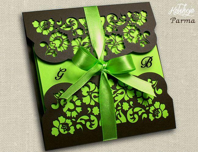 Nowość 2015 Ażurowe Zaproszenia ślubne Laserowe 4961885399