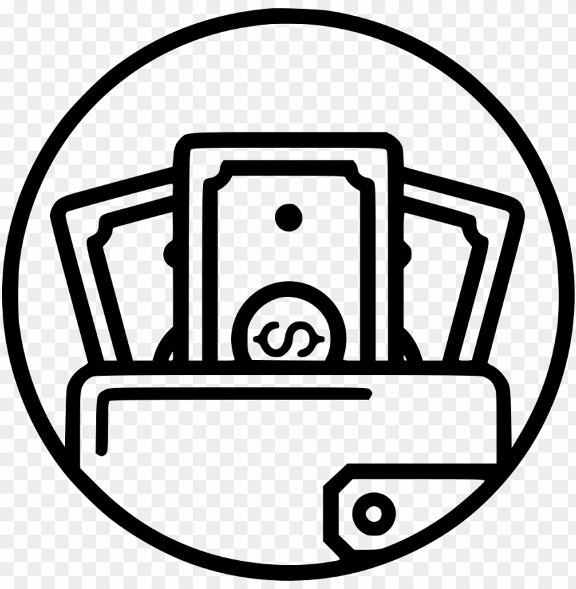 File Wallet Cash Money Icon Png Image With Transparent Background Png Free Png Images Money Icons Instagram Money Money Sign