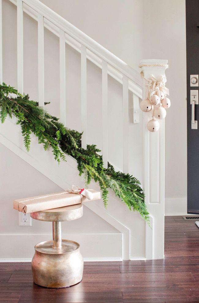 40 erstaunliche Weihnachtstreppen-Dekorations-Ideen | Weihnachten ...