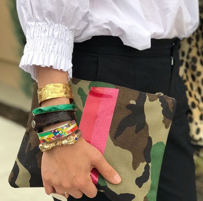 Red /& Black Camouflage Faux Leather Fashion Clutch Bag
