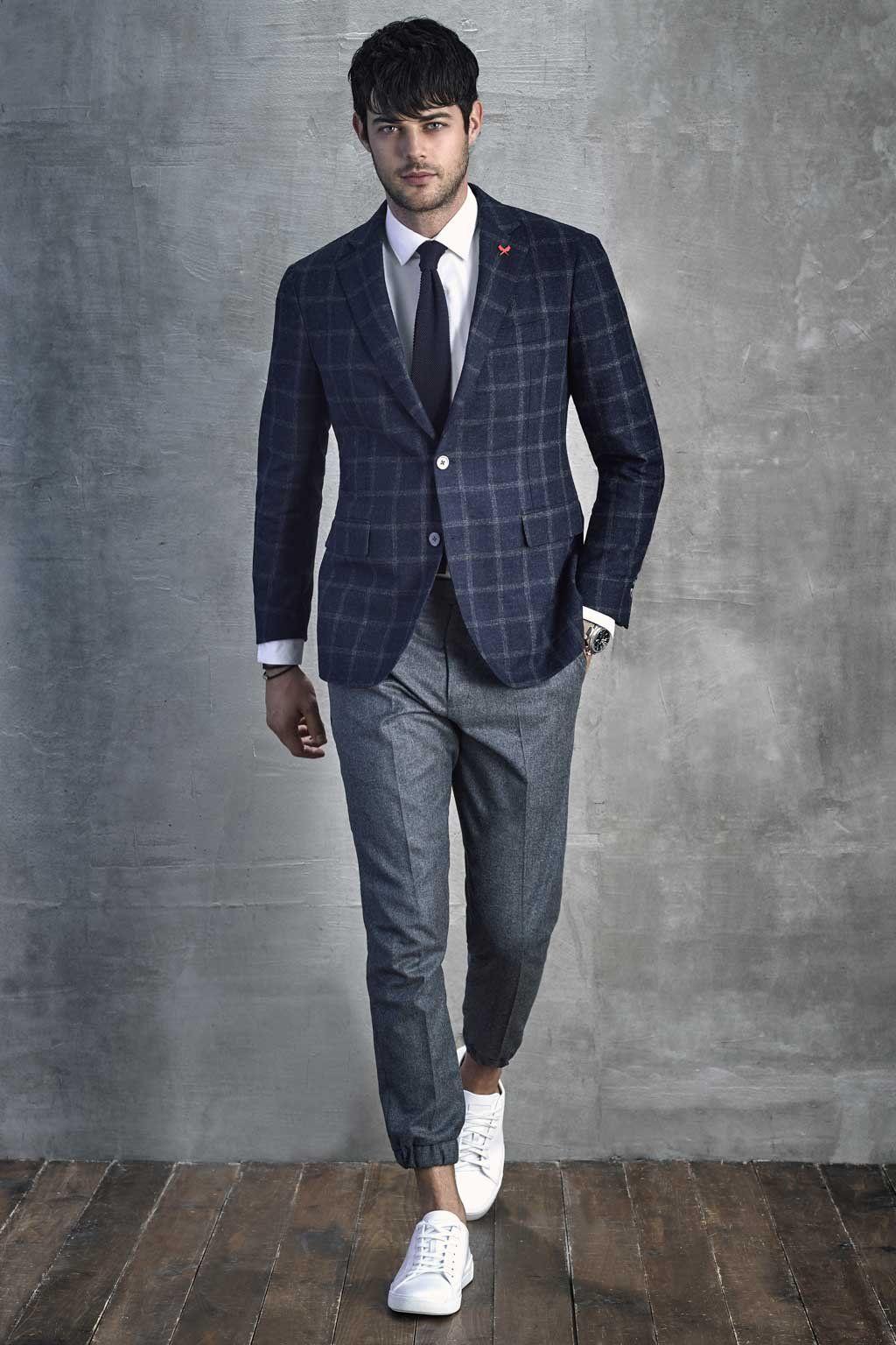 NavyBrown Augustus Wool Sports Coat in 2020 Prom