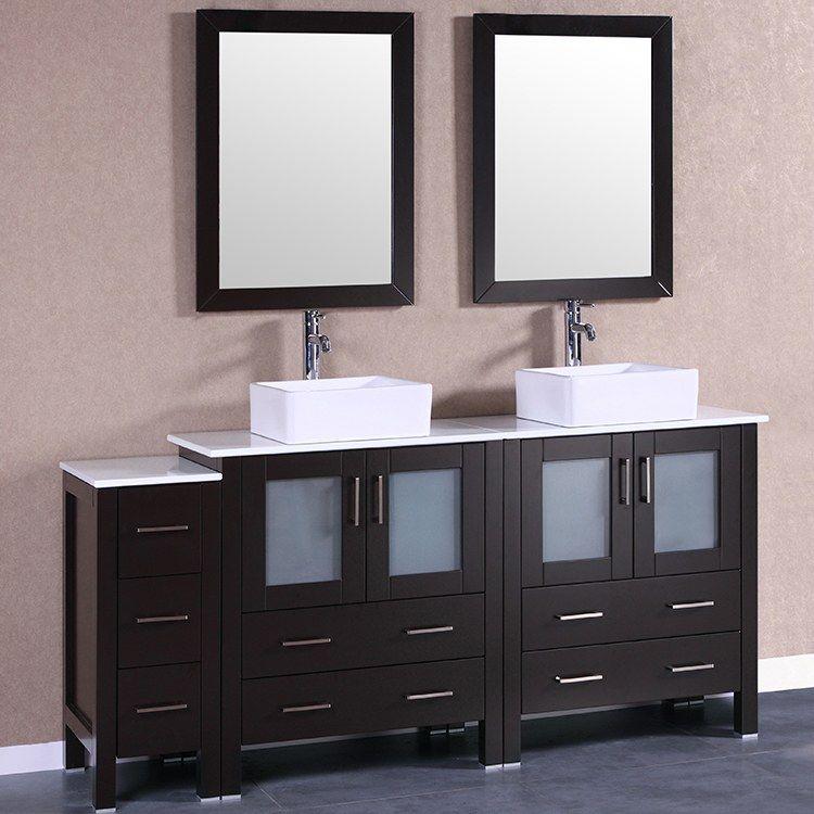 Bosconi Ab230cbeps1s 72 Double Bathroom Vanity Set With Phoenix