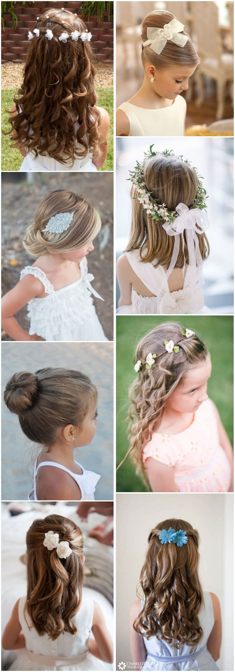 super cute little girl hairstyles for wedding girls pinterest