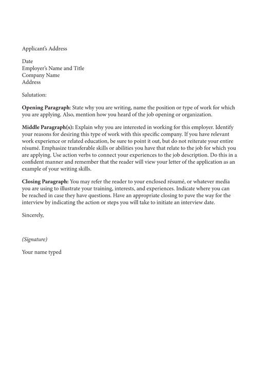 How to write a winning cover letter Resumes \ Cover Letters - on campus job resume