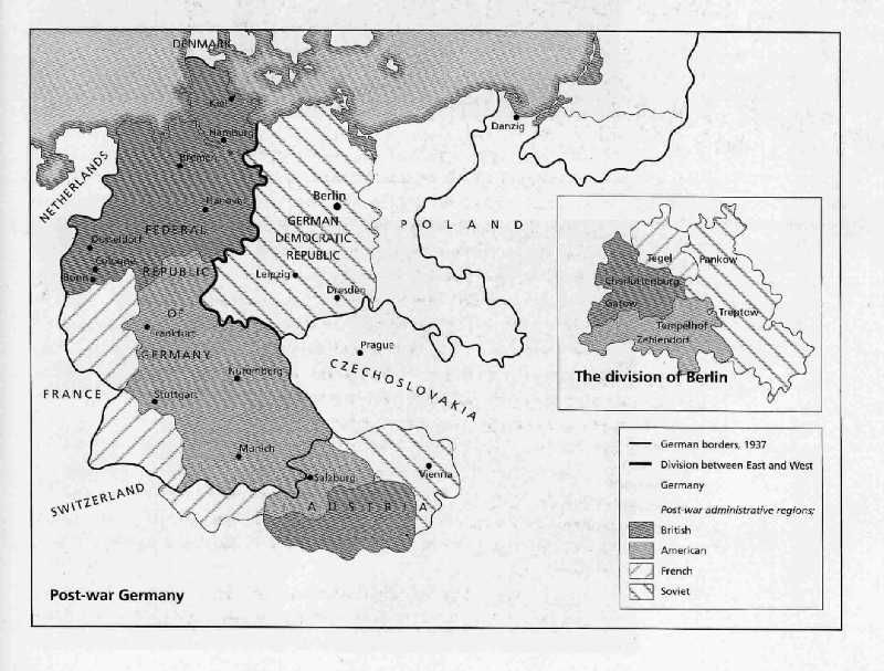 map of divided germany 1945 author thematic visualization environmental management