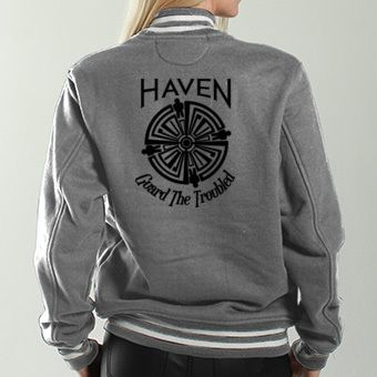 Haven Syfy Inspired Jackets  Haven Troubled Tattoo Black Logo ... 2c6b534f34a