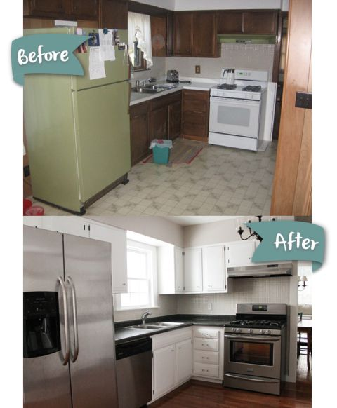 Kitchen Makeovers On A Low Budget: DIY Kitchen Remodel Done Over Several Years. See The