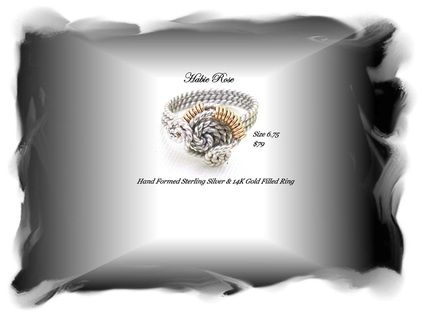 Women's Handcrafted Sterling Silver and Gold Filled Ring
