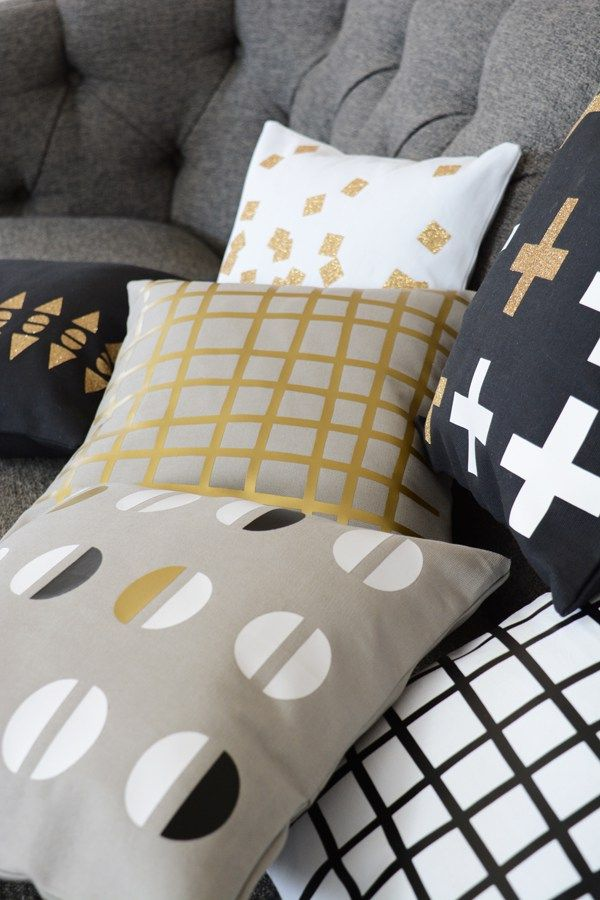 Modern Geometric Pillows Created With Cricut Gold Machine For Joann Interesting Joann Fabrics Pillow Covers