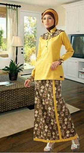 Baju muslim batik merupakan salah satu bentuk kreativitas ...