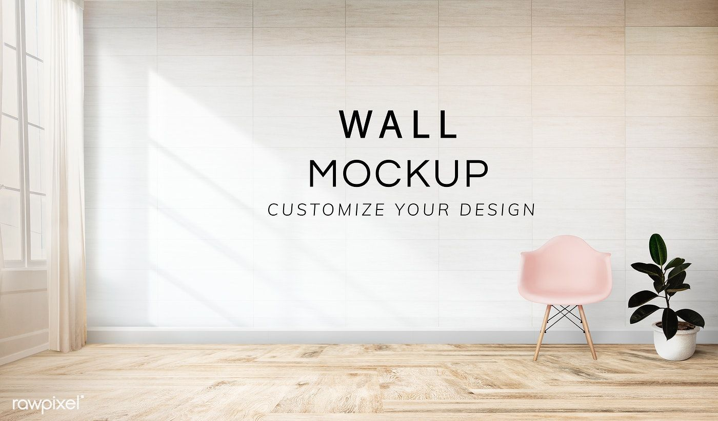 Pink Chair And A Plant Against A Wall Mockup Free Image By Rawpixel Com Pink Chair White Room Wall Signage