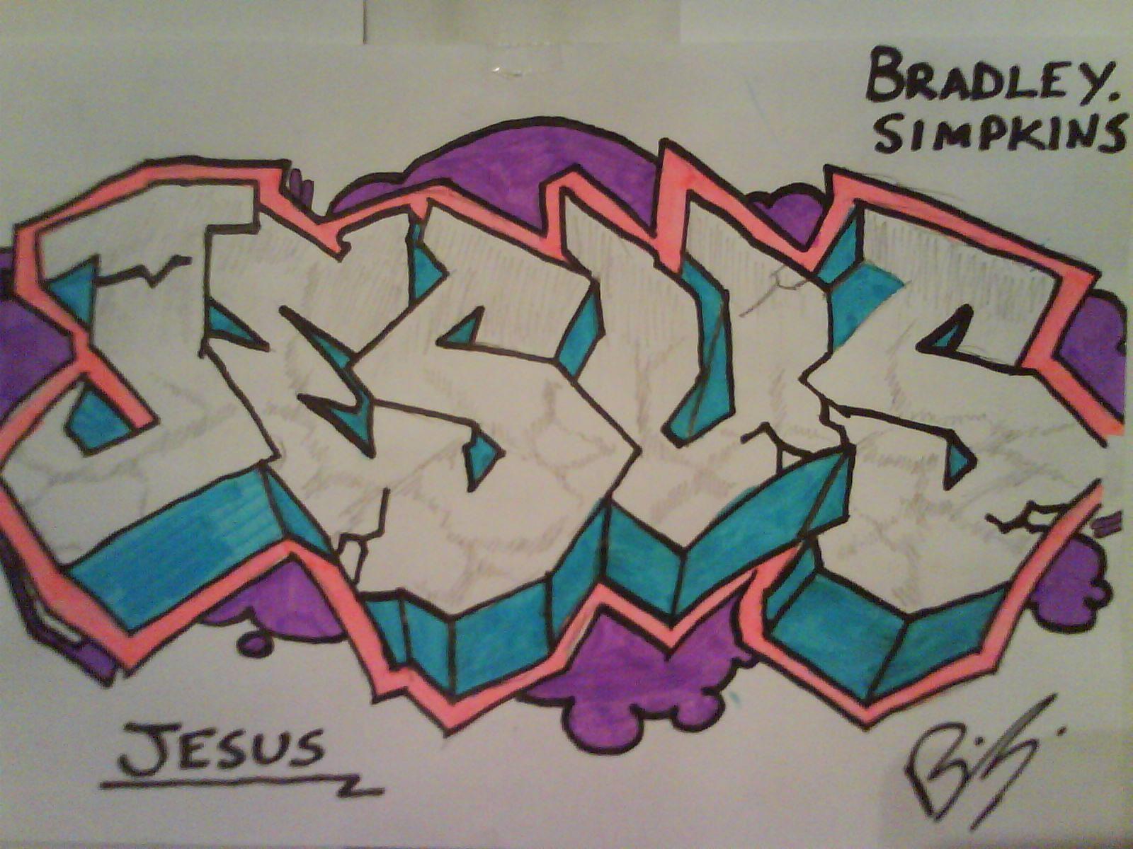 Nuevos Graffitis De Jesus Lettering True Art Graffiti
