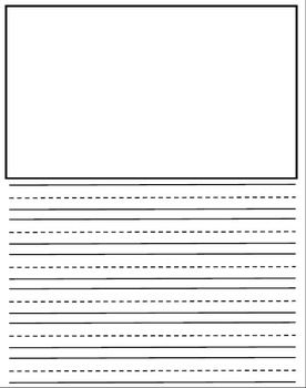 Writing Paper With Picture Box Pdf Kindergarten Writing