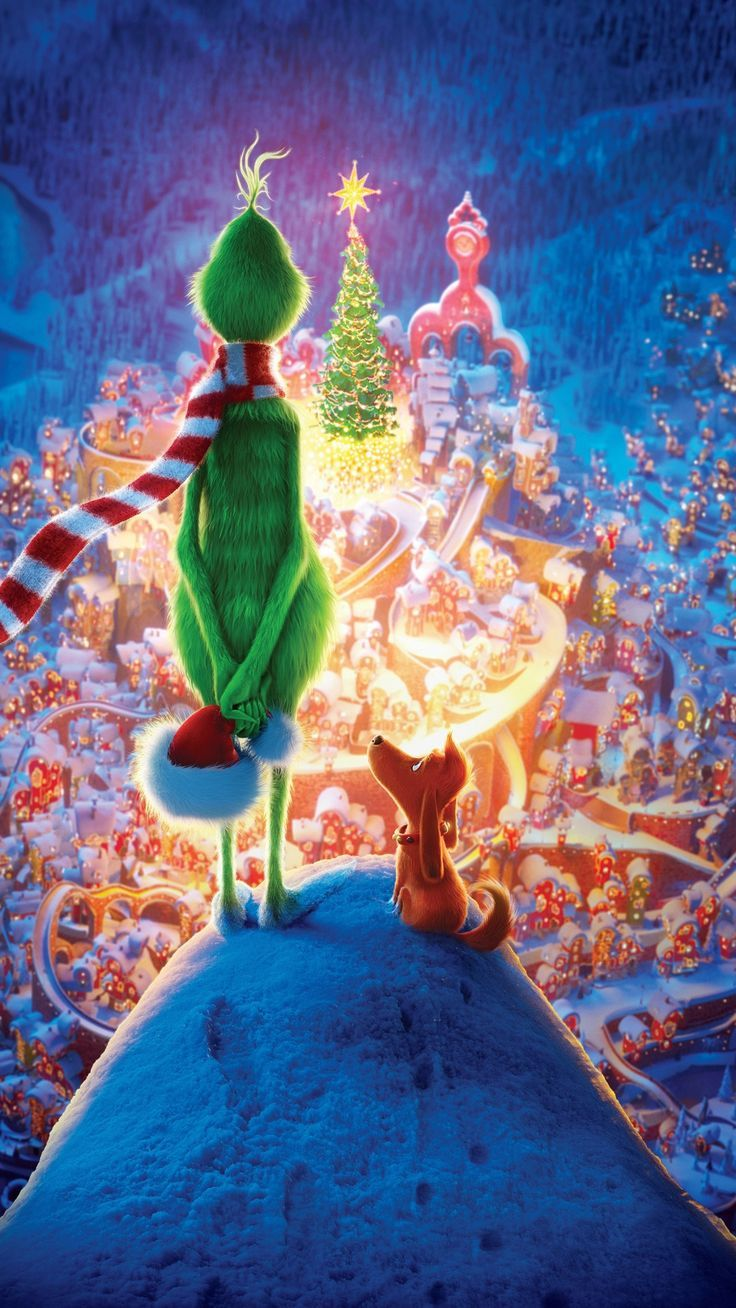 awesome wallpaper The Grinch 2018 movie Christmas 10801920