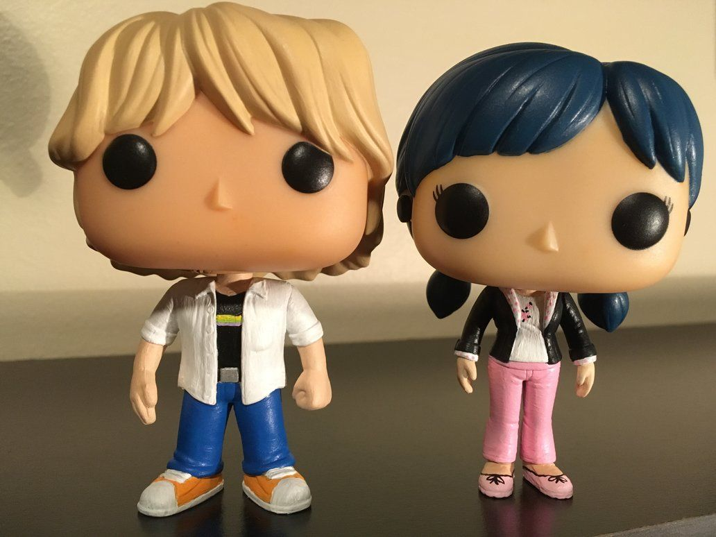 Marinette And Adrien Custom Funko Pop By Numairsalmalin Custom