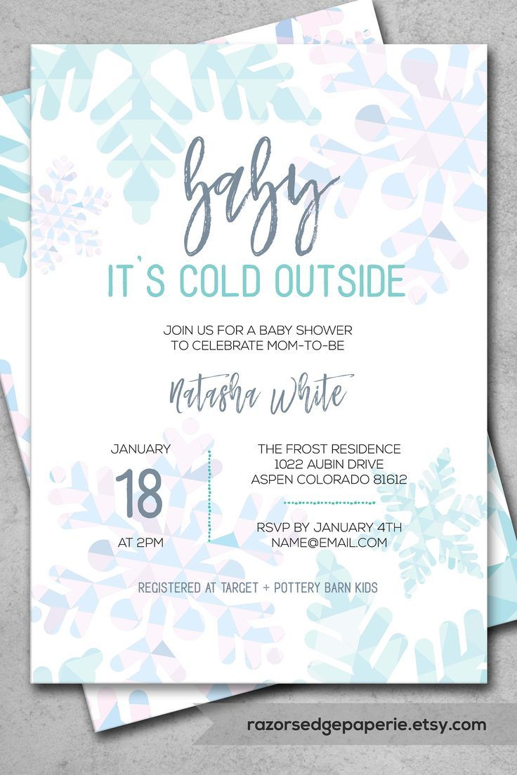 Diy Printable Winter Baby Shower Invitation For Snowflake Baby Shower Instant Downloa Winter Baby Shower Invitations Outside Baby Showers Snowflake Baby Shower