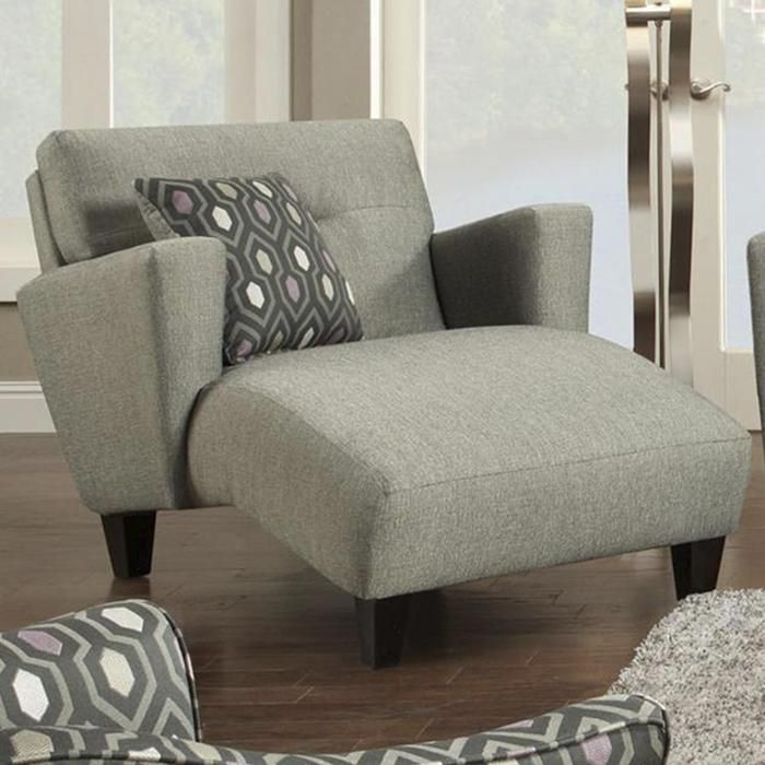 Whitaker Carbon Chaise in Gray Nebraska Furniture Mart