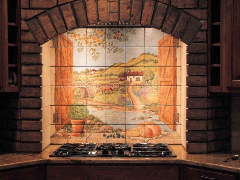 Kitchen Mural Tiles Installation Photo Of Dori 39 S Irish Scene Backsplash Tile Mural