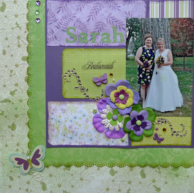 Bridesmaids Sarah Wedding scrapbook