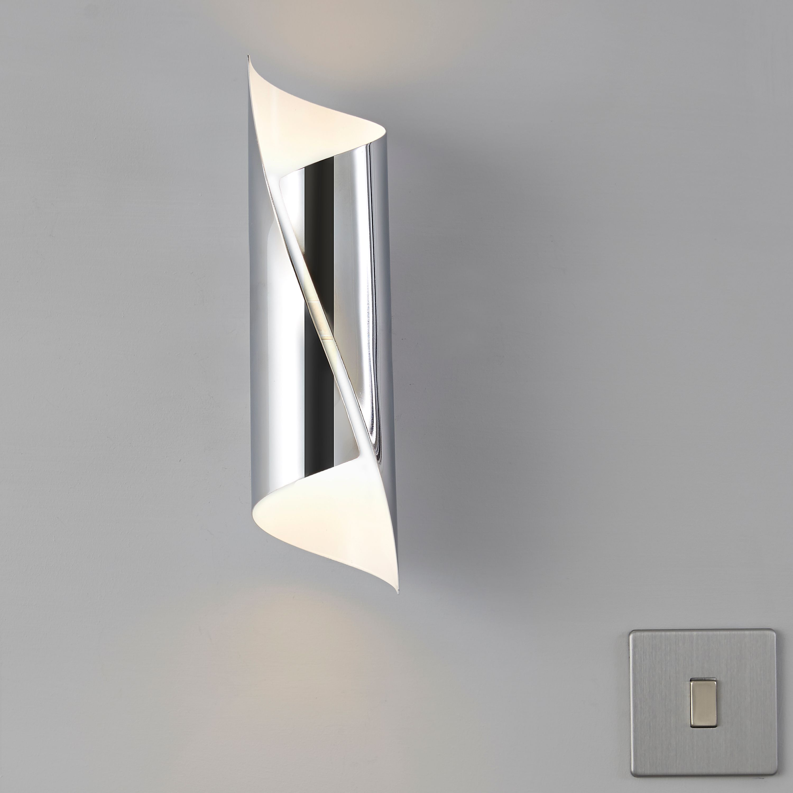 Zodia cut tube chrome effect single wall light departments diy zodia cut tube chrome effect single wall light departments diy at bq aloadofball Image collections