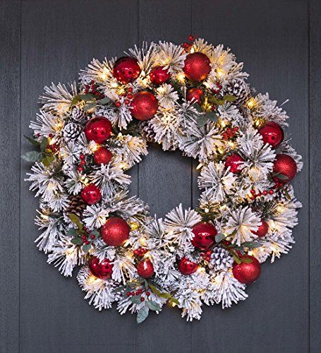 Fairfax Lighted Decorated Holiday Wreath 24 dia -- Continue to the - christmas wreath decorations