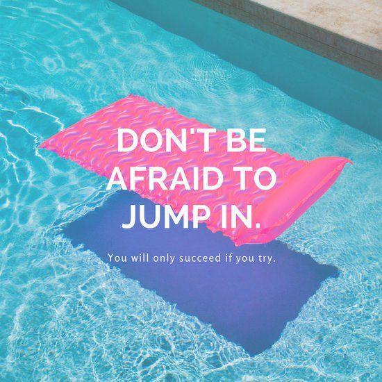 Pool Photo Inspirational Quote Summer Instagram Blogging
