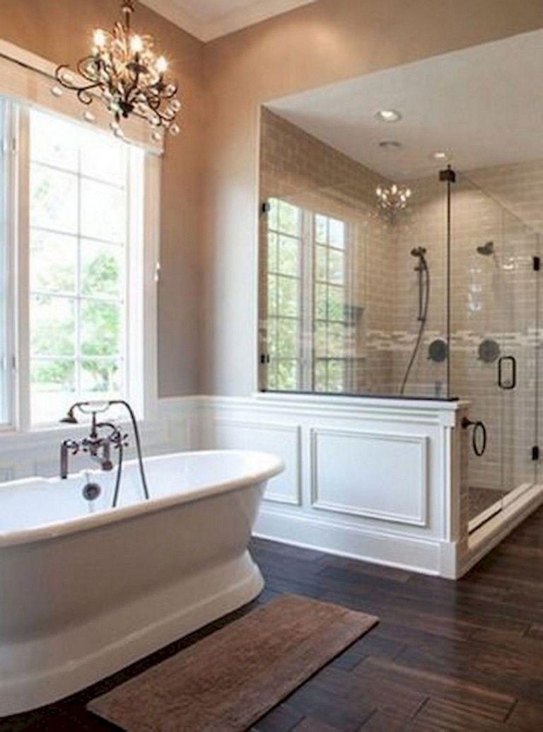 33+ Top Rustic Farmhouse Master Bathroom Remodel Ideas images