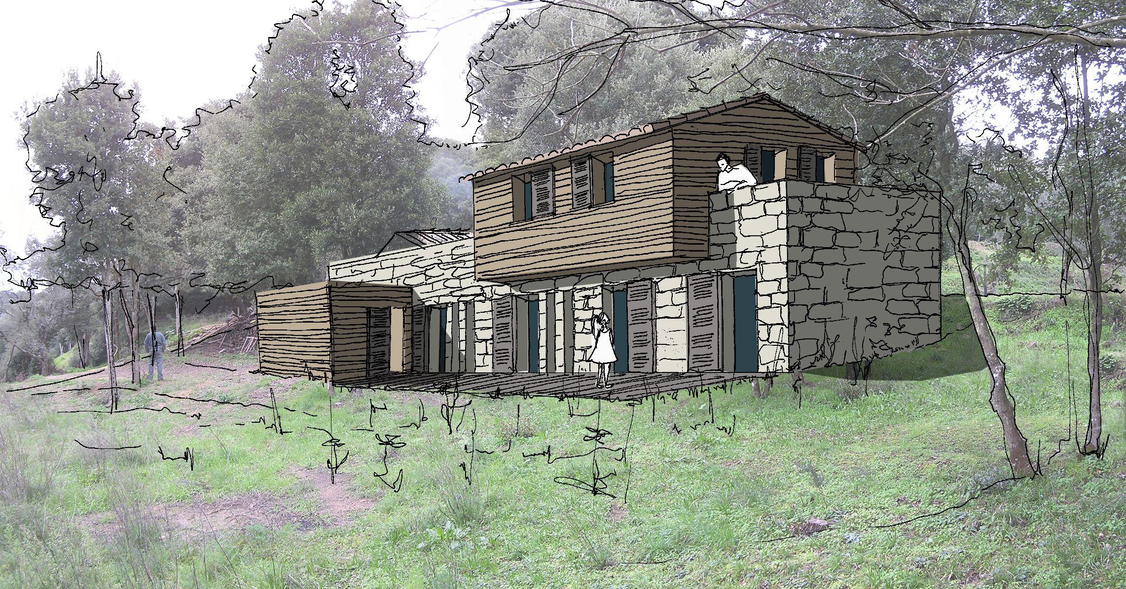 maison en pierres et bois sart ne corse du sud villa corse pinterest corse du sud. Black Bedroom Furniture Sets. Home Design Ideas