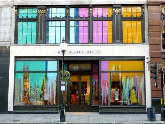anthropologie rings in spring with abstract color retail window display pinterest. Black Bedroom Furniture Sets. Home Design Ideas