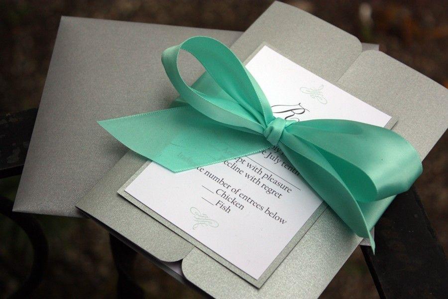 Elegant gatefold wedding invitations with rsvp cards and
