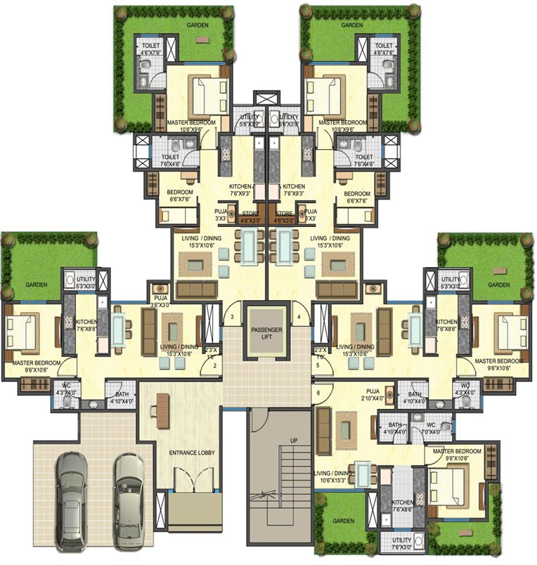 1 Bedroom Apartment Plans 4 Jpg 764 804 Apartment Floor Plans Architectural Floor Plans Floor Plans