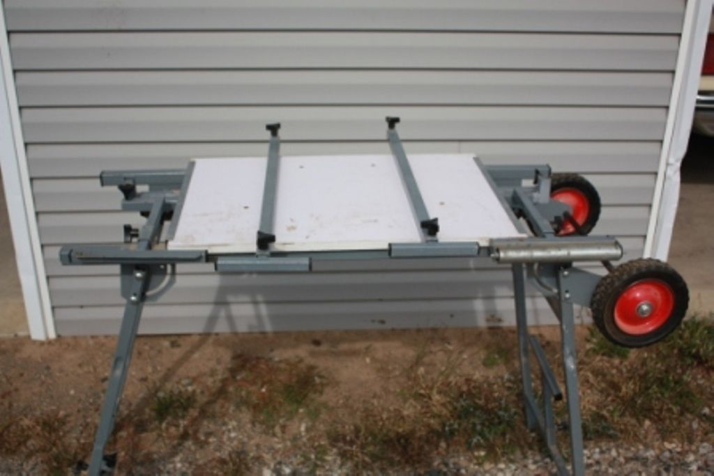 Mobile Folding Power Tool Stand Harbor Freight Pre Owned Very Good Tool Stand Power Tools Tools