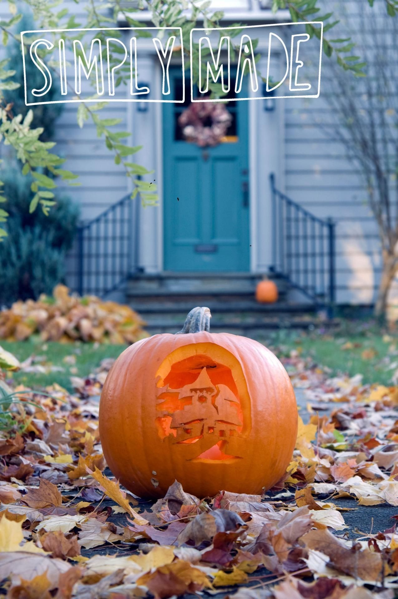 3 Quick Ways to Greet Trick-or-Treaters with Front Door Decor this - halloween front door decor