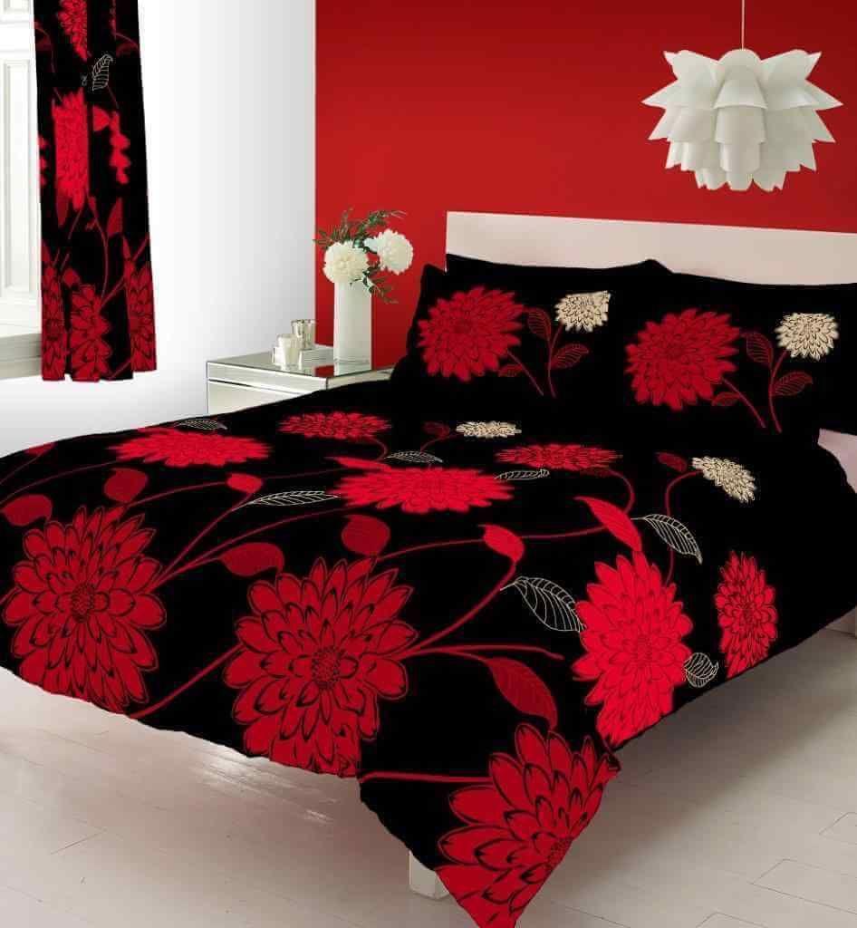 New Sophia Duvet Quilt Cover Bedding Set Black Red Linens Range Duvet Sets Luxury Duvet Covers Bed Duvet Covers