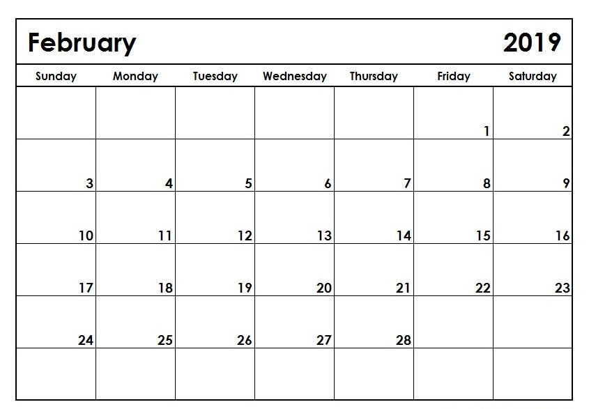 February Calendar 2021 Printable Notes And To Do List Monthly