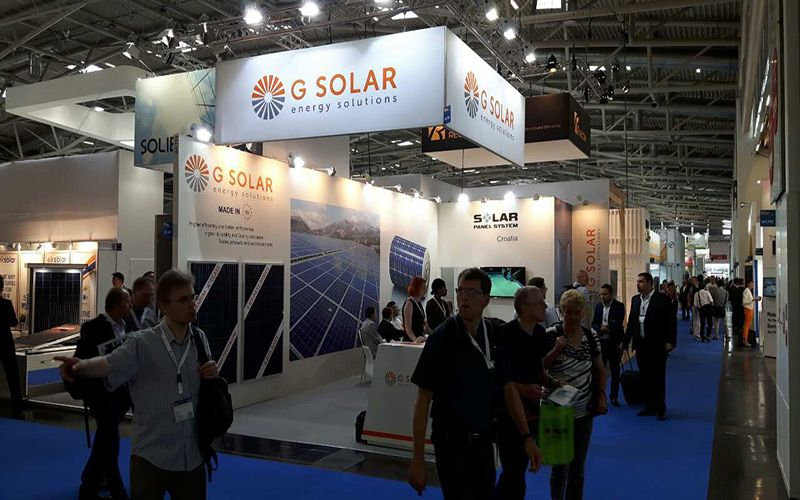 Exhibition Stand Builders In Munich : Solar panel system stand intersolar munich done by