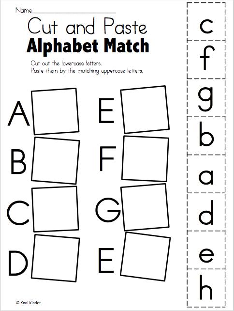 Alphabet Match A to E