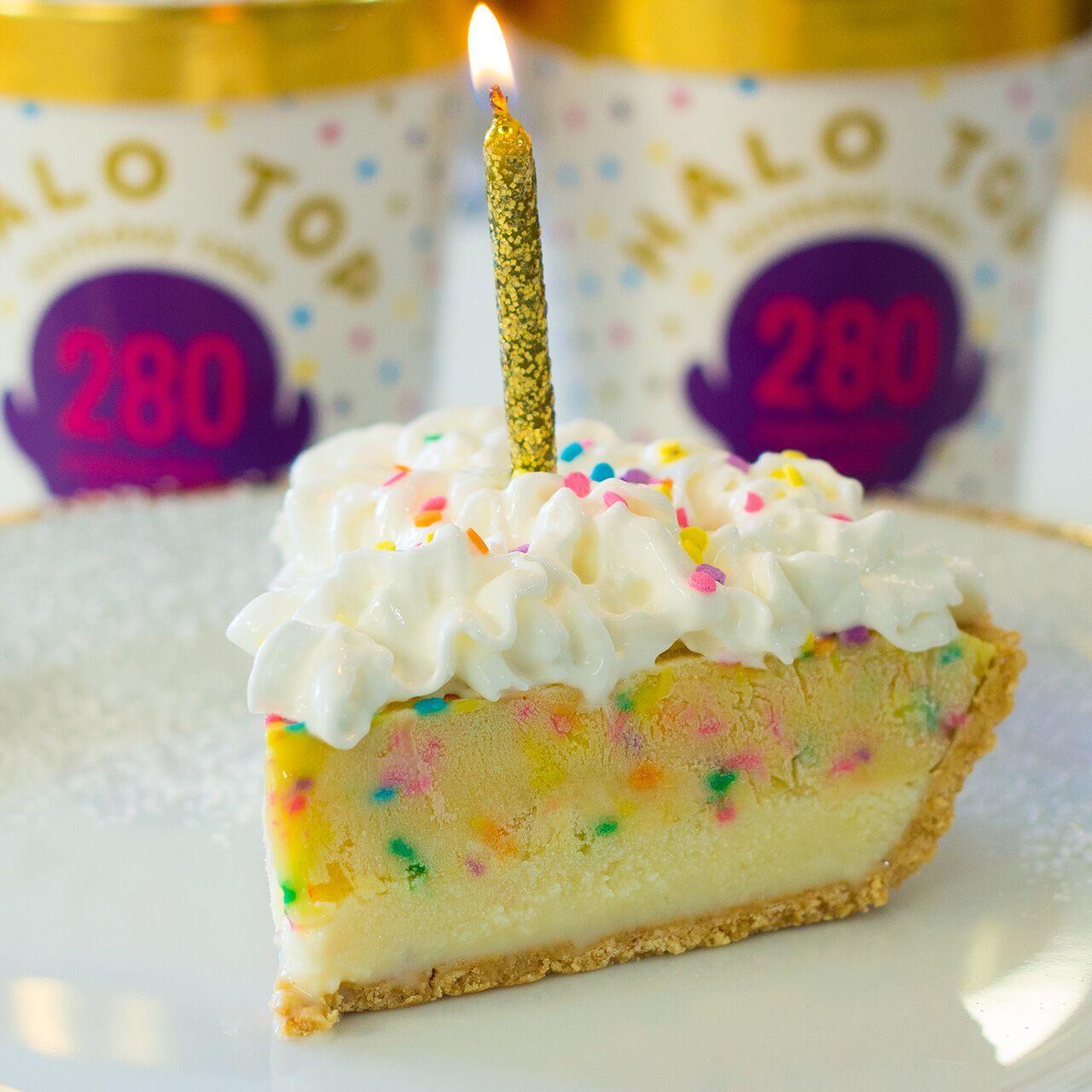 Happy Birthday Pie Using Halo Top Ice Cream Credits To Mr Cooking Panda YIELDS 1 PIE 10 SERVINGS