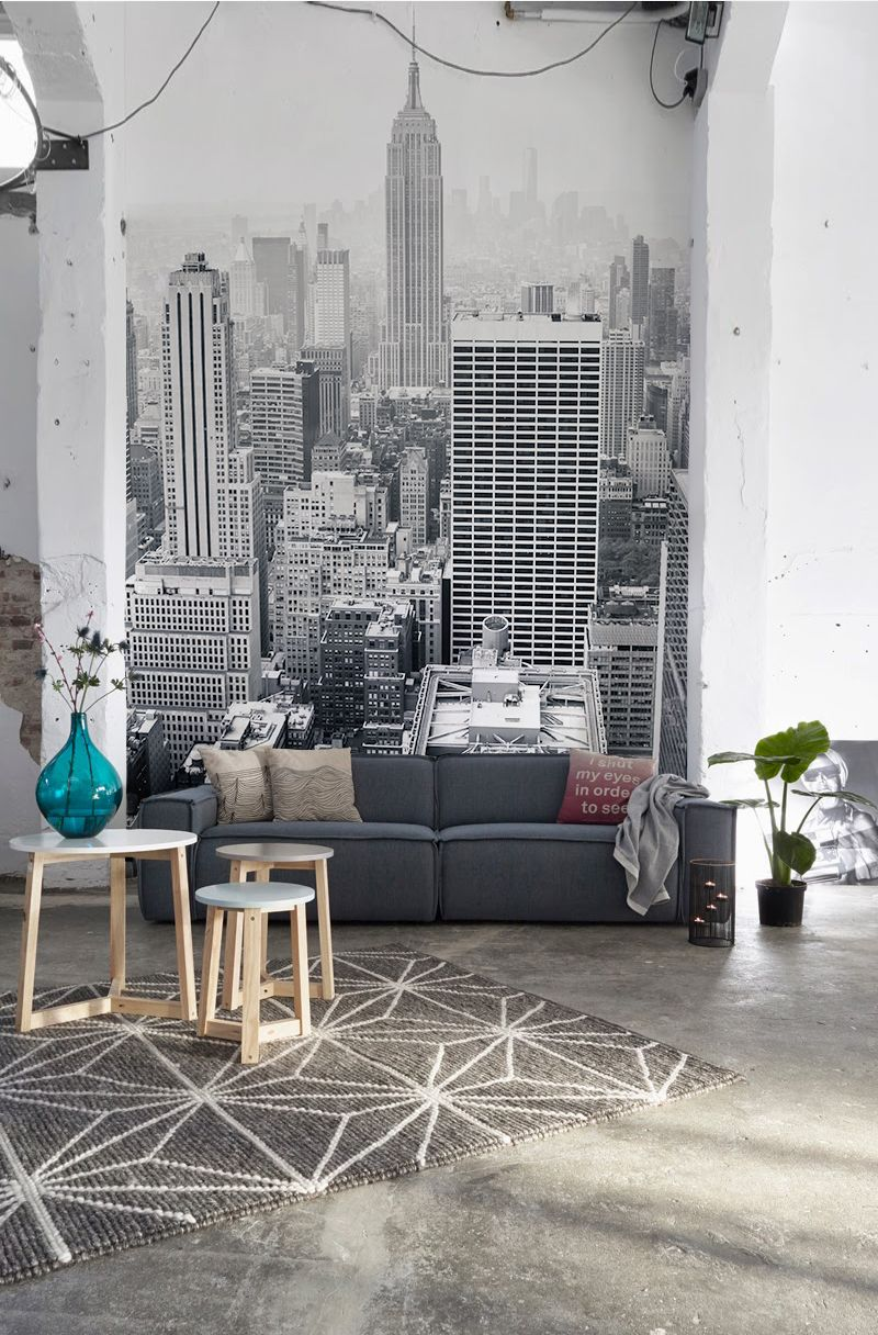 11 Larger Than Life Wall Murals   Monochrome color, Gray wallpaper ...