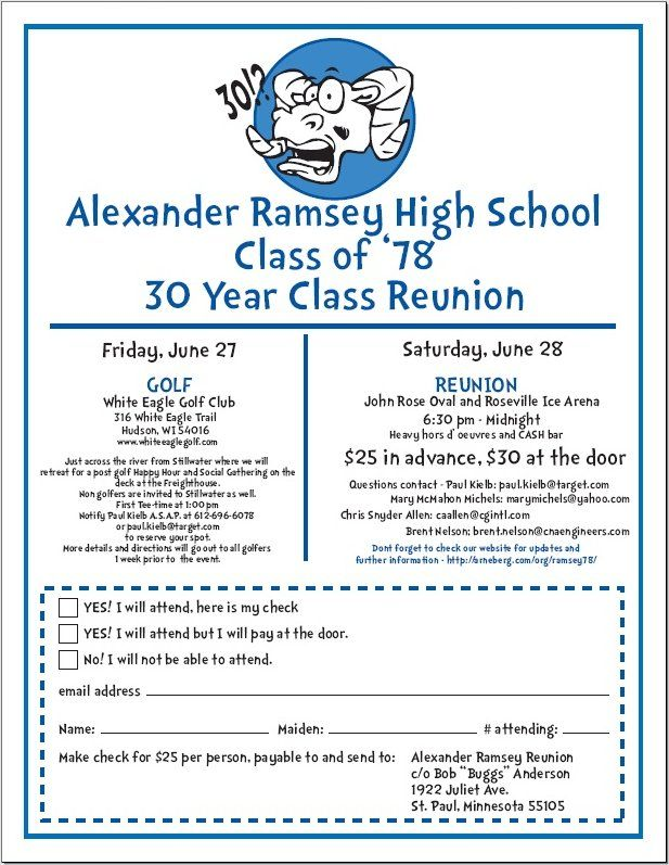 College Reunion Invitation Templates Class Reunion Invitations ~ Pandora