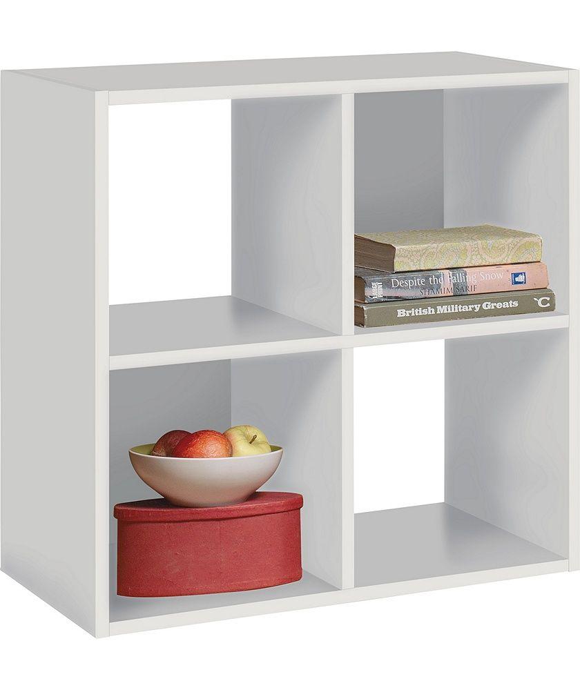 Buy Argos Home Squares 4 Cube Storage Unit White Bookcases And Shelving Argos Cube Storage Unit Cube Storage 4 Cube Storage Unit