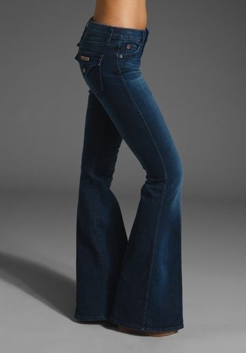cute outfits with flare jeans | HUDSON JEANS Jane Flare in Warhol ...