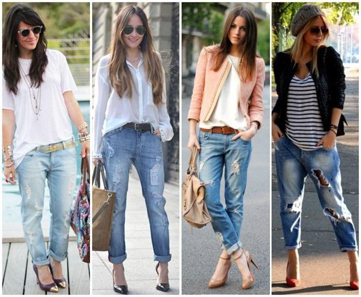 883dc6b41d870 A Calça Jeans rasgada e destruída nos looks femininos – Veja como usar!