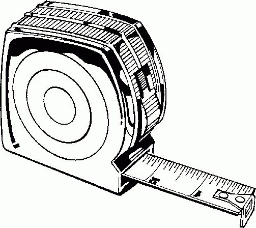 Measuring tape coloring page