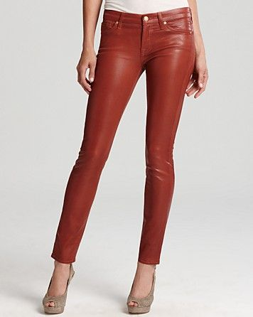 e7389c979d 7 For All Mankind Jeans - The High Shine Gummy Skinny in Dusty Pink ...