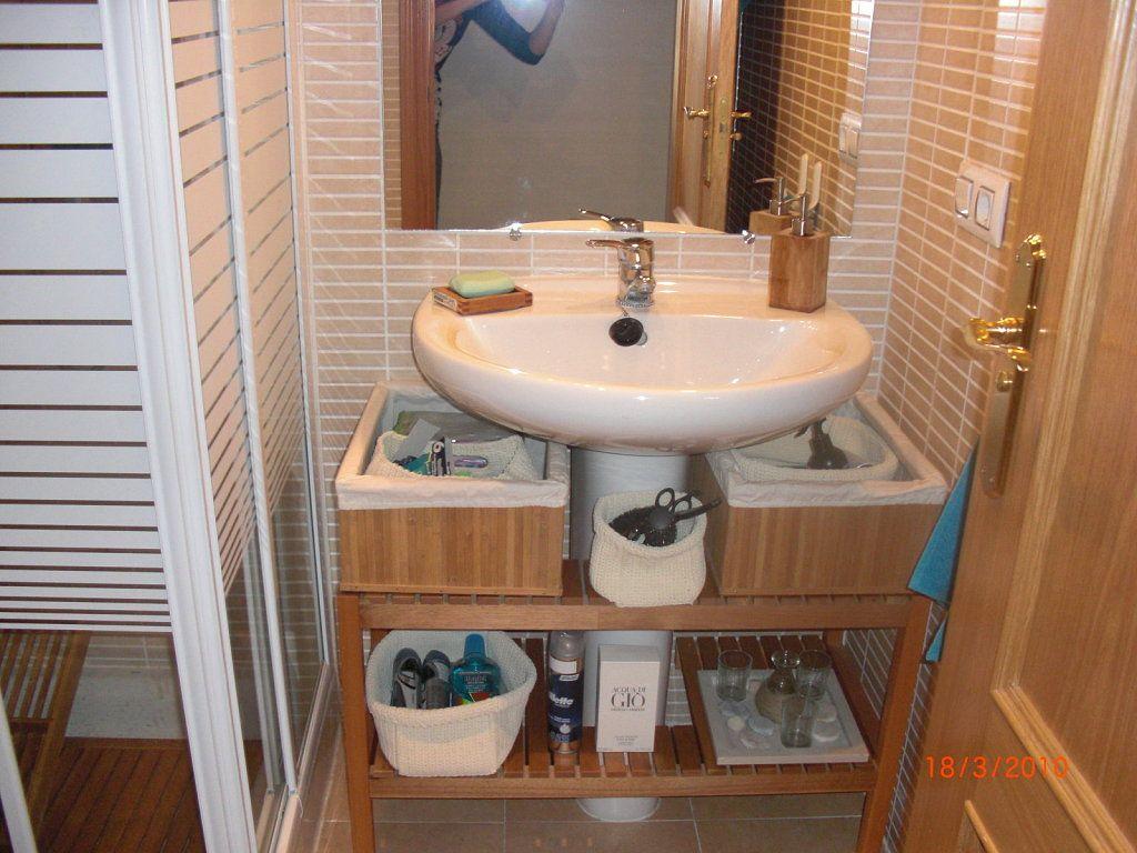 Lavavos Con Pie Soluciones Econ Micas Decorar Tu Casa Es  # Muebles Bajo Lavabo Ikea