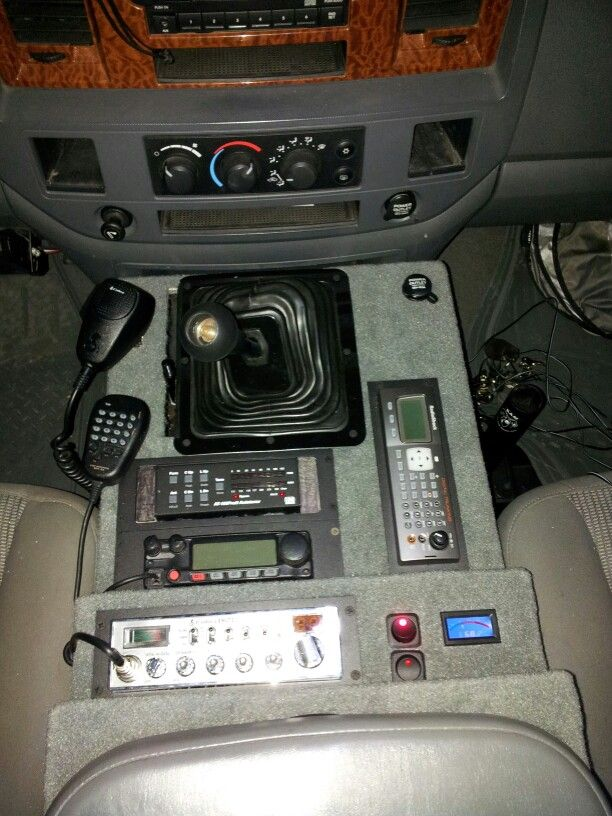 Console I Made For Truck Ham Radio Things Dodge