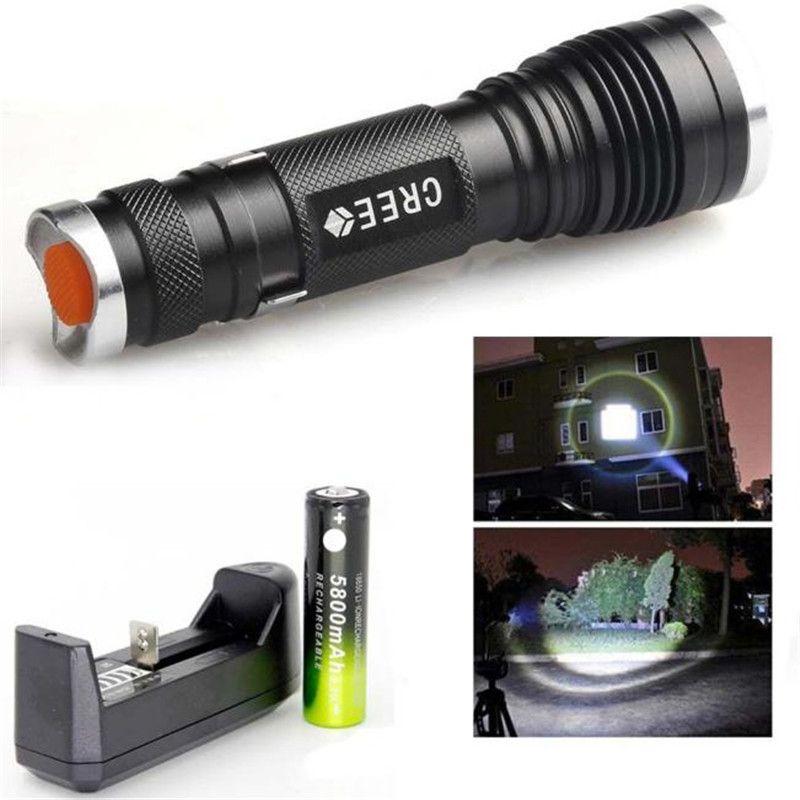 3000LM XML Q5 Interface LED Bike Bicycle Cycling Torch Headlight Lamp Battery