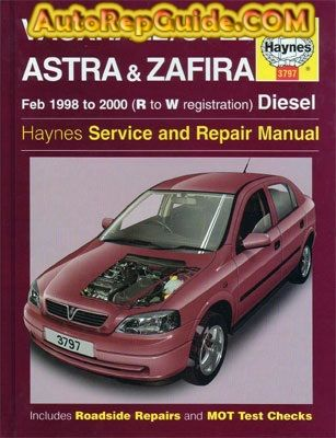 Download Free Vauxhall Opel Astra G Zafira Diesel 1998 2000 Workshop Manual Image By Autorepguide Com Repair Manuals Car Suv Car