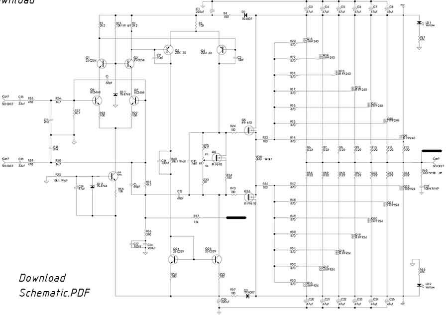 800w Power Amplifier With Mosfet Final Transistor Audio
